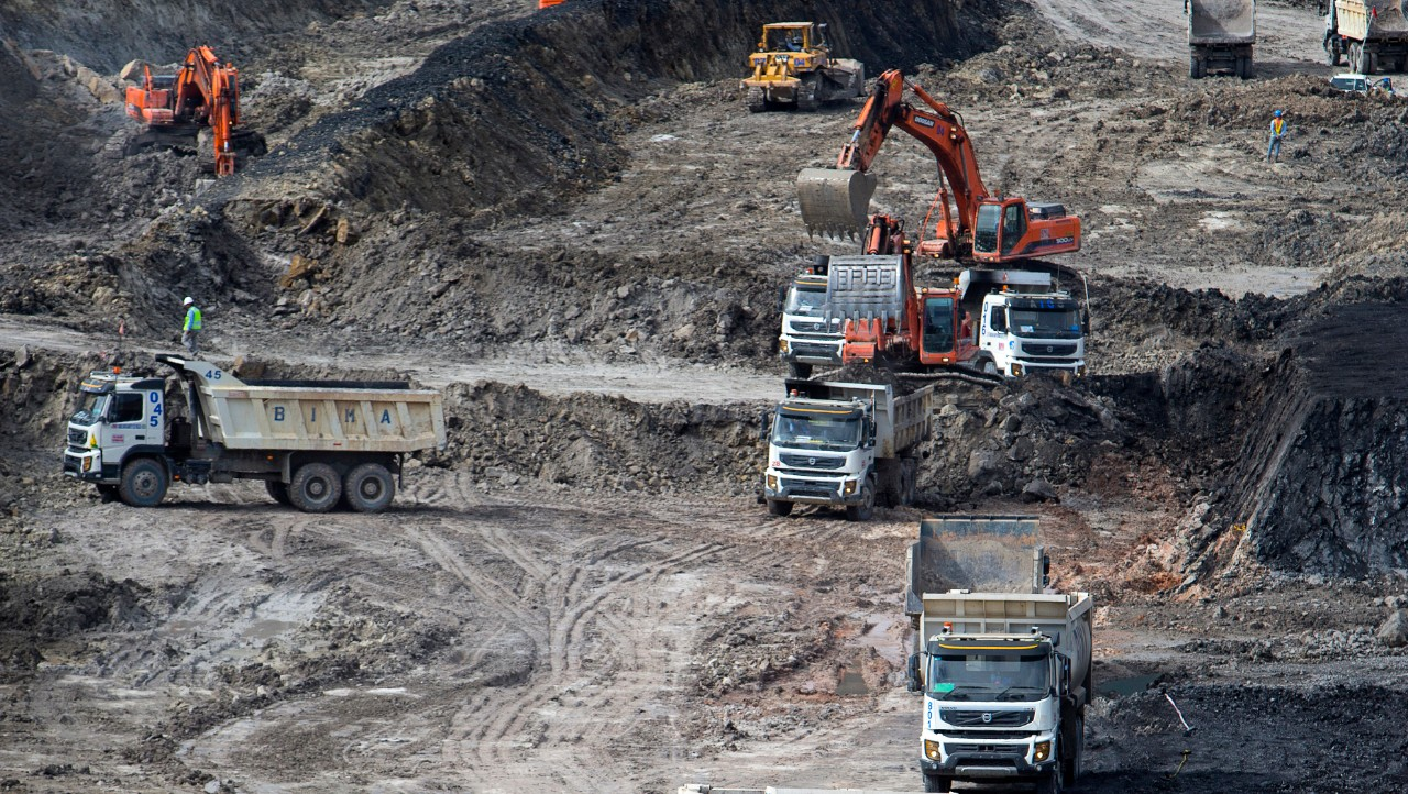 Trucks in mine.