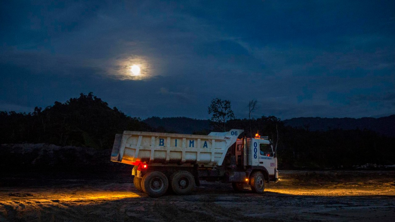 Trucks starts the night shift.