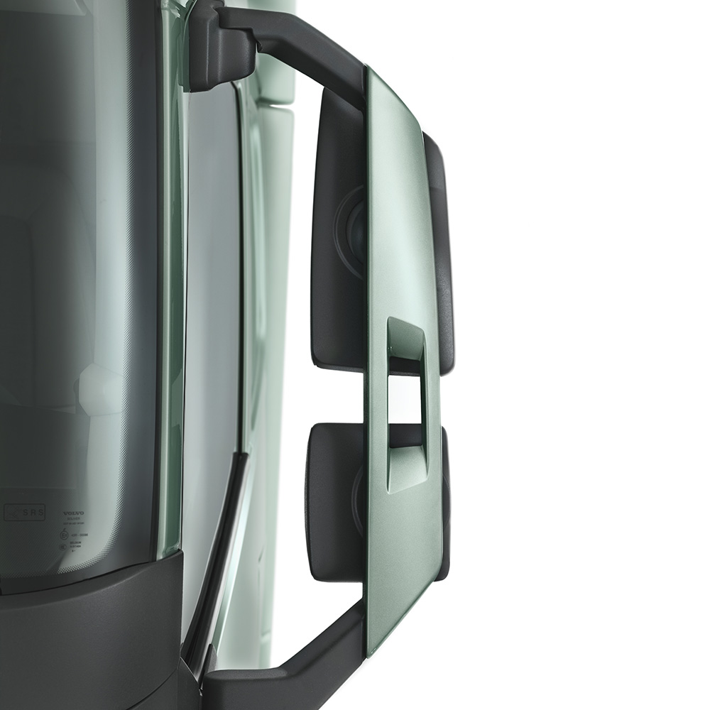 Volvo Trucks' rear-view mirrors.