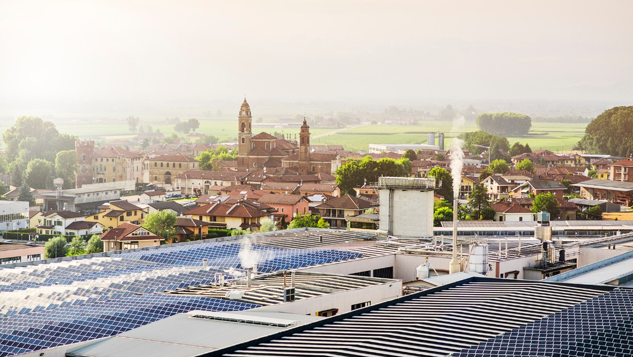 Roof of Monge & C Spa's factory.
